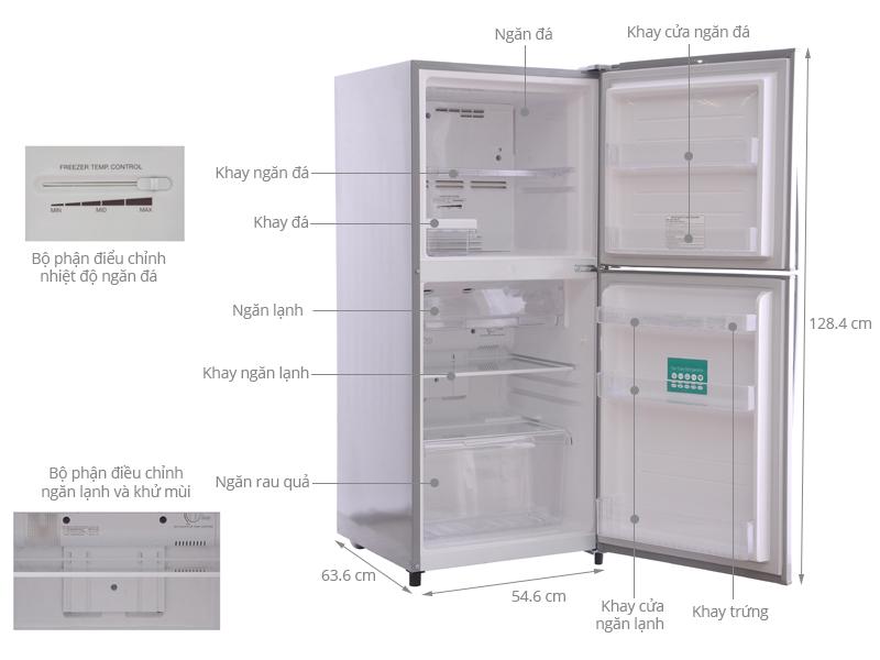 Thông số kỹ thuật Tủ lạnh Toshiba 171 lít GR-S19VPP