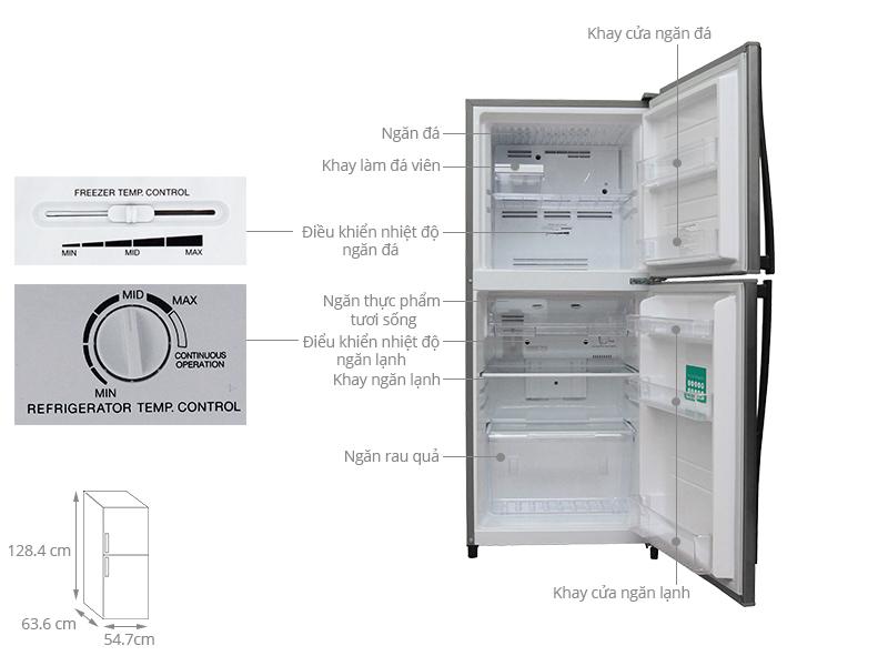 Thông số kỹ thuật Tủ lạnh Toshiba 171 lít GR-S19VUP (TS)
