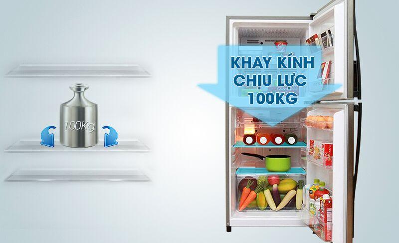 Khay kính của tủ lạnh Toshiba GR-S19VUP có thể chịu lựu lớn