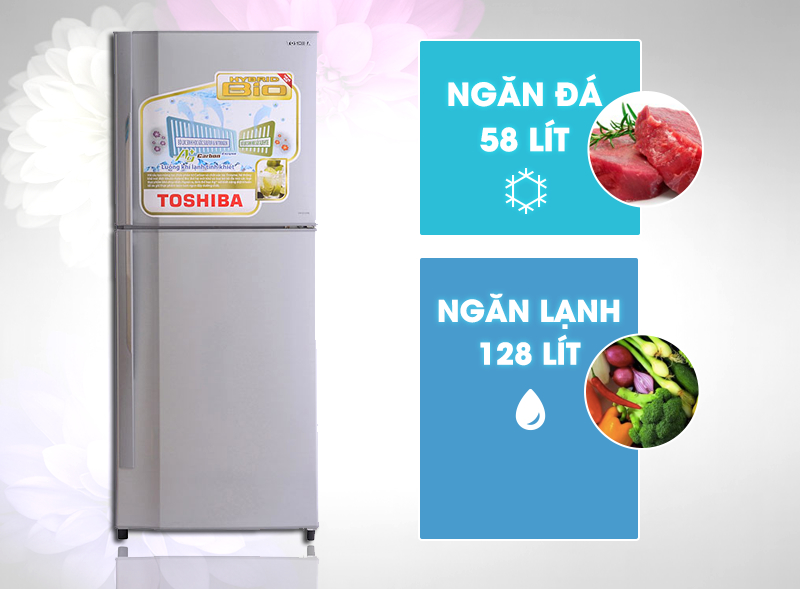 Gam màu bạc của tủ lạnh Toshiba GR-S21VPB mang đến cho nó sự hiện đại hơn