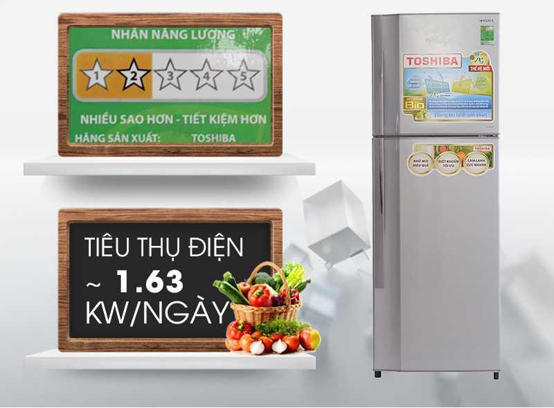Với khả năng tiêu thụ khoảng 1.63 kW điện trong một ngày, tủ lạnh Toshiba GR-S25VPB tương đối tiết kiệm