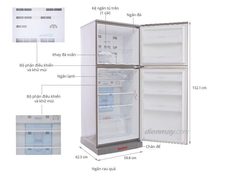 Thông số kỹ thuật Tủ lạnh Sanyo SR-U25MN 245 lít