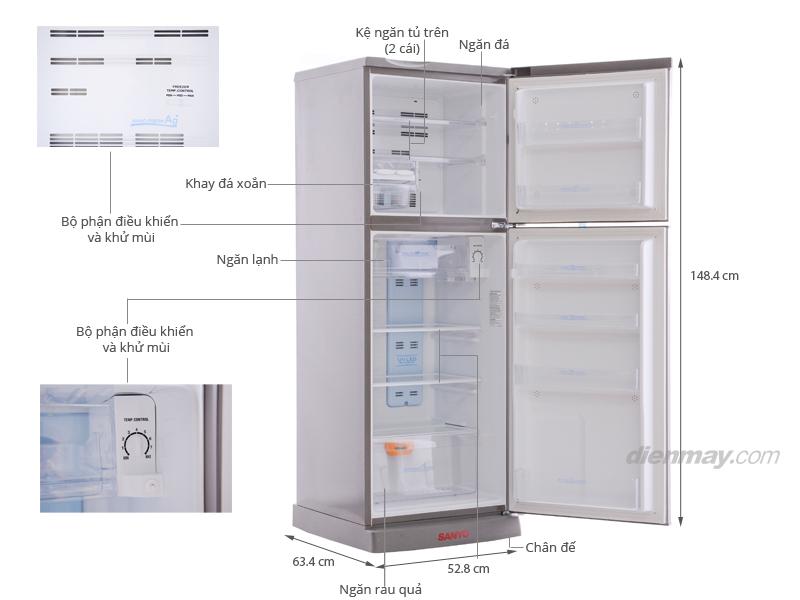 Thông số kỹ thuật Tủ lạnh Sanyo SR-U21MN 207 lít