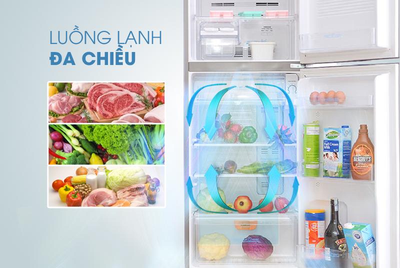 Thực phẩm được làm lạnh đồng đều nhờ vào uồng khí lạnh đa chiều