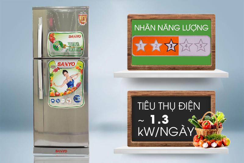Tủ lạnh tiết kiệm điện được chứng nhận 3 sao năng lượng