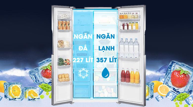 Dung tích 548 lít - Tủ lạnh Samsung Inverter 548 lít RS552NRUASL/SV