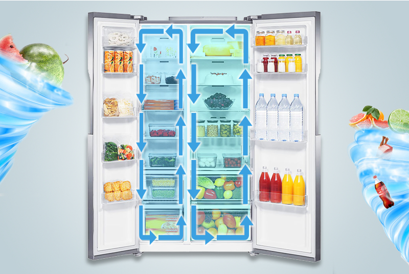 Multi Flow giúp làm lạnh đều các ngăn tủ