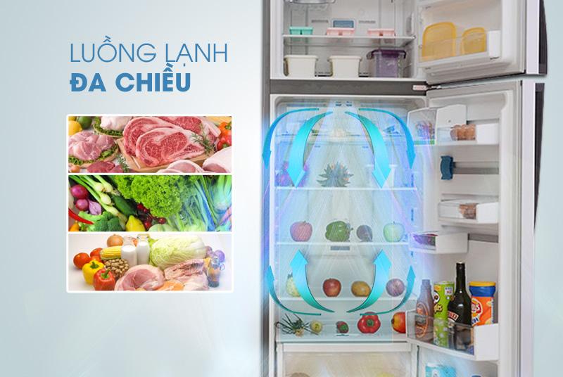 Công nghệ làm lạnh đa chiều MultiFlow đảm bảo cho mọi vị trí trong tủ lạnh Electrolux ETB3500PE-RVN đều được làm lạnh