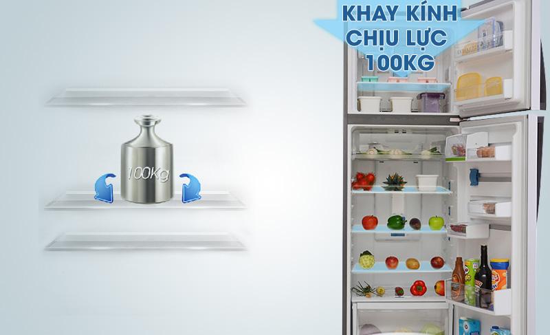 Tủ lạnh Electrolux ETB3500PE-RVN có khay kính chịu lực tốt