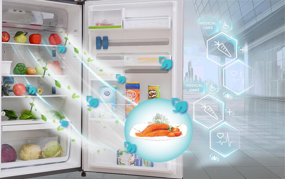 Hệ thống lọc mùi kép Deo Fresh diệt khuẩn hiệu quả
