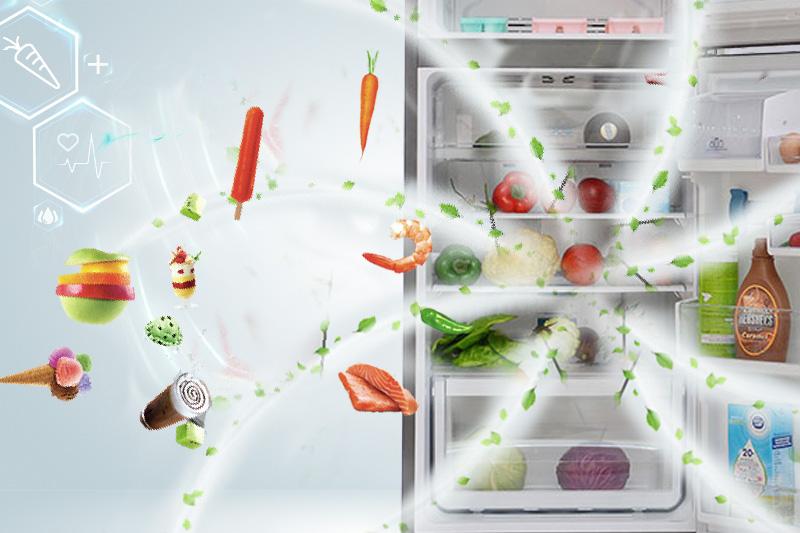 Công nghệ khử mùi DeoFresh của tủ lạnh Electrolux ETB2300PE-RVN