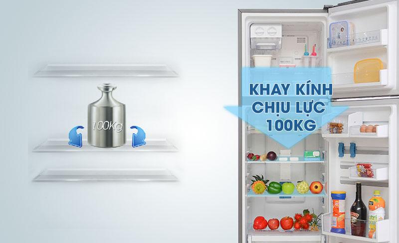 Với khay kính có khả năng chịu được khối lượng lớn, tủ lạnh Electrolux ETB2600PE-RVN sẽ đảm bảo cho bạn sắp xếp thực phẩm được nhanh chóng