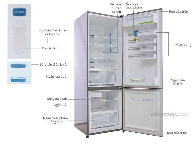 Thông số kỹ thuật Tủ lạnh Electrolux EBB3500PA-RVN 347 lít