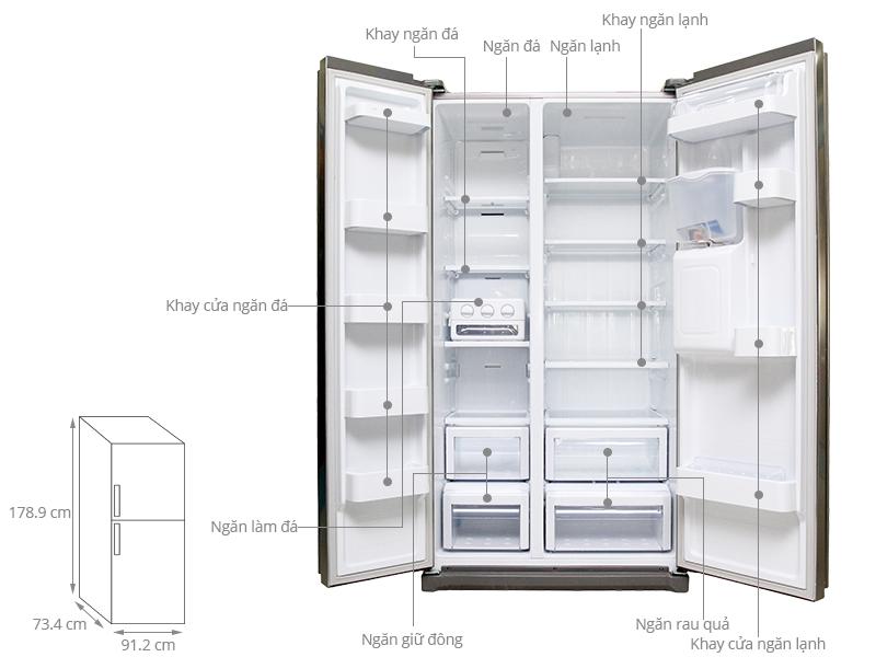 Thông số kỹ thuật Tủ lạnh Samsung 543 lít RSA1WTSL1/XSV