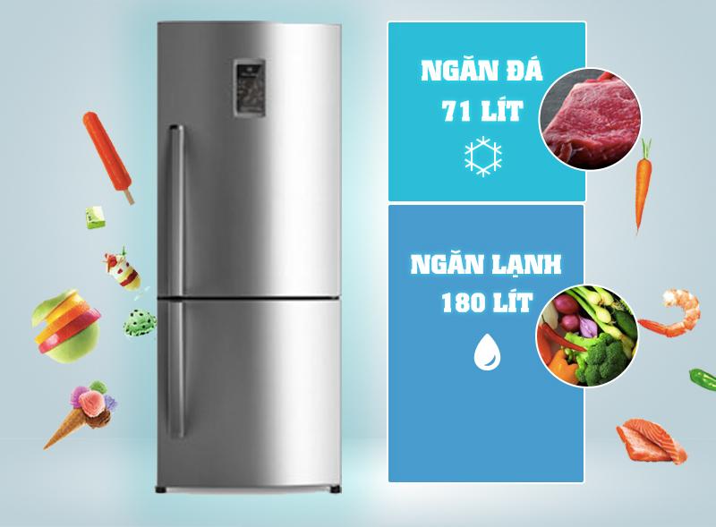 Tủ lạnh Electrolux EBB2600PA có thiết kế sang trọng
