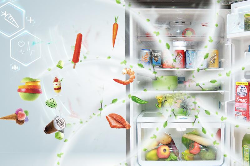 Tủ lạnh Electrolux EME3500SA chứa công nghệ khử mùi DeoFresh