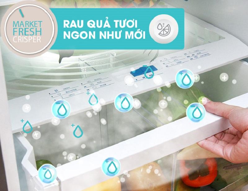 Với ngăn rau củ MarketFresh, tủ lạnh Electrolux EME3500SA giúp cho việc bảo quản rau củ được lâu hơn