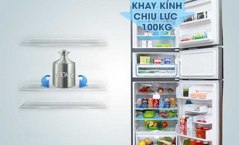Khay kính chịu lực của tủ lạnh Electrolux EME3500SA hỗ trợ cho người tiêu dùng sắp xếp thực phẩm lên nó dễ dàng