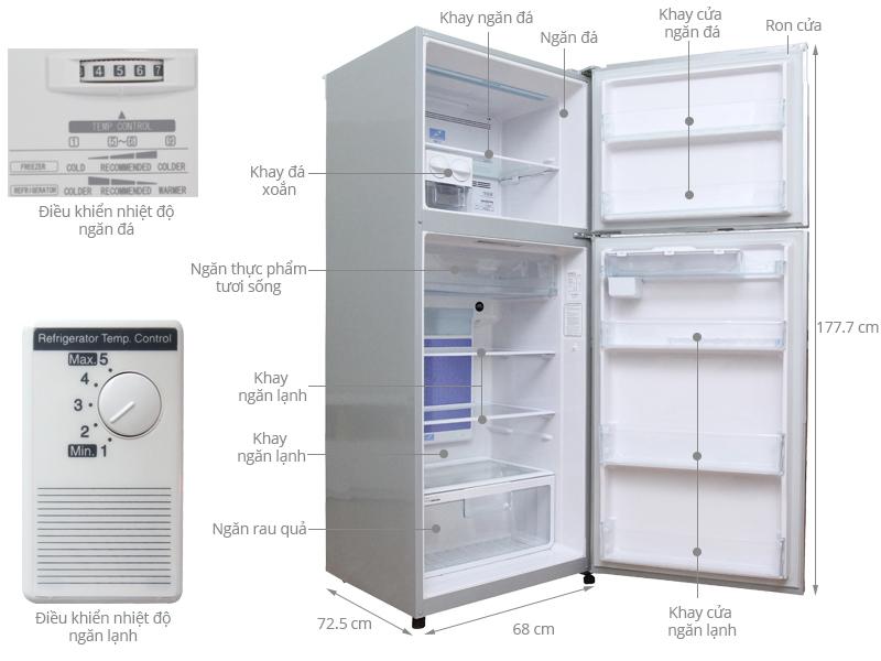 Thông số kỹ thuật Tủ lạnh Hitachi 395 lít R-Z470EG9D