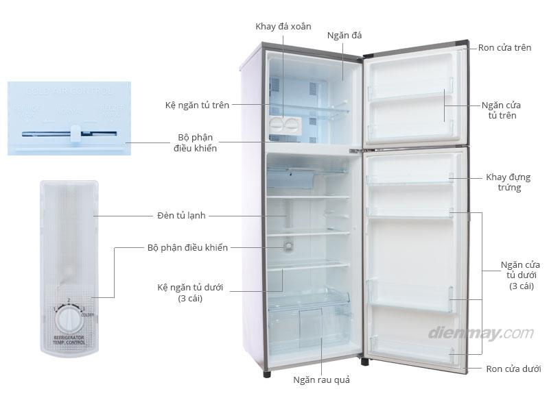 Thông số kỹ thuật Tủ lạnh Panasonic NR-BK266SNVN 234 lít