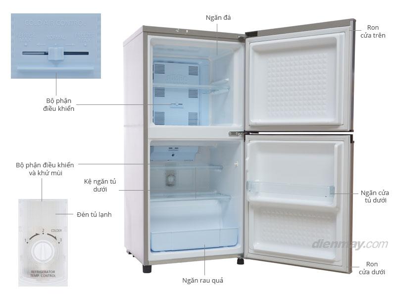 Thông số kỹ thuật Tủ lạnh Panasonic NR-BJ151SSVN 130 lít