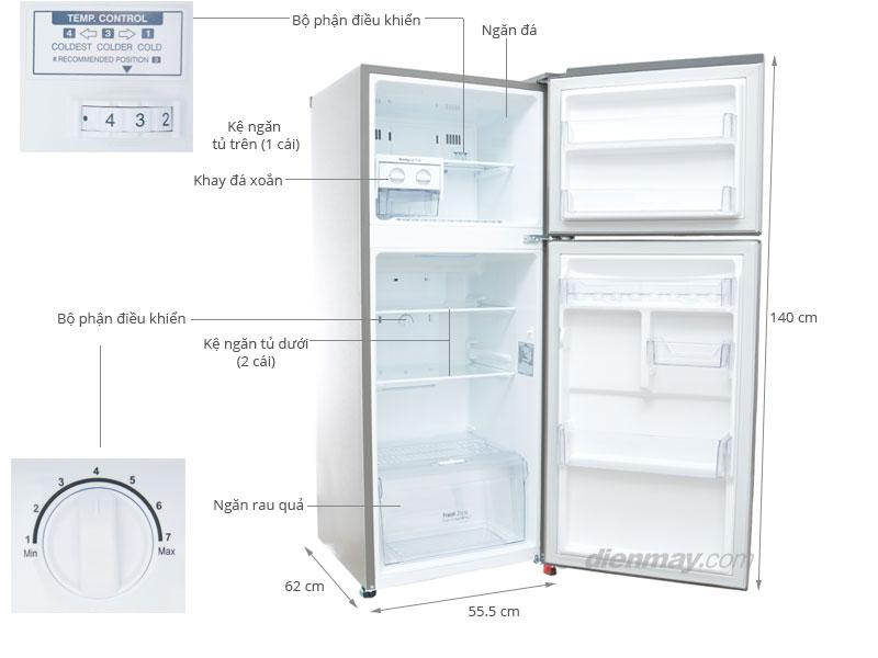Thông số kỹ thuật Tủ lạnh LG GN-L202BS 187 lít