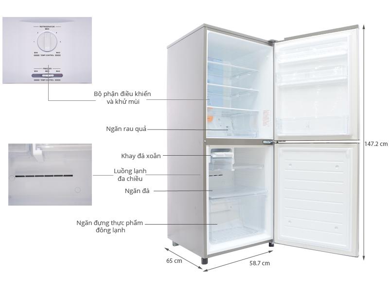 Thông số kỹ thuật Tủ lạnh Sanyo SR-Q285RB 284 lít