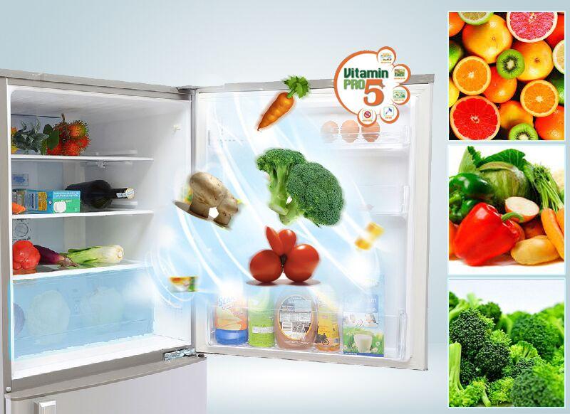 Đặc biệt hơn nữa, cùng với Vitamin Pro5+, chiếc tủ lạnh Sanyo SR-Q285RB sẽ cung cấp vitamin cho không khí trong tủ