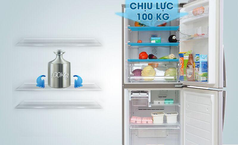 Khay chứa của tủ lạnh Sanyo SR-Q285RB có thể chịu đựng khối lượng lực lớn