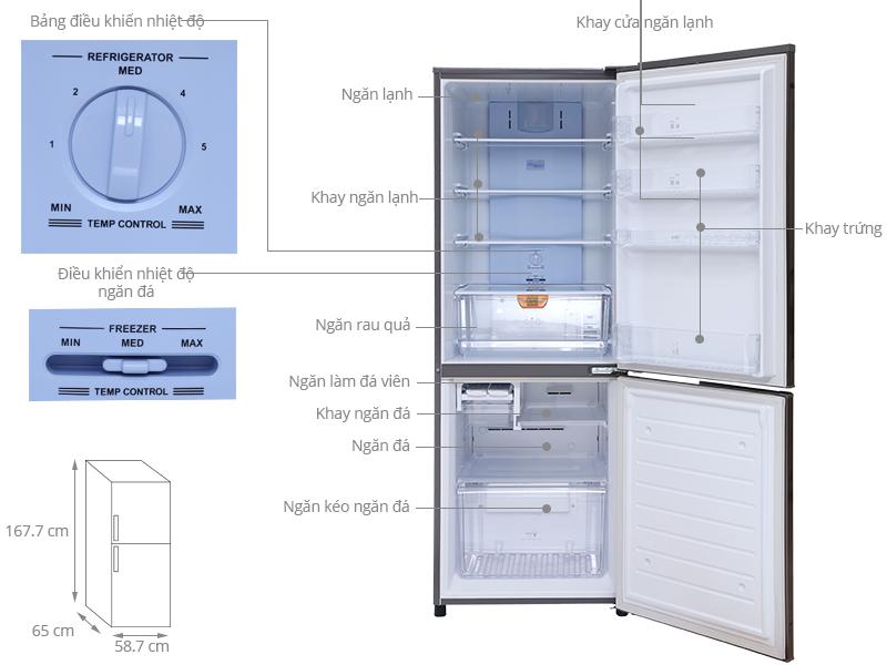 Thông số kỹ thuật Tủ lạnh Sanyo 301 lít SR-PQ345RB