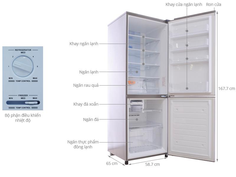 Thông số kỹ thuật Tủ lạnh Sanyo 301 lít SR-Q345RB