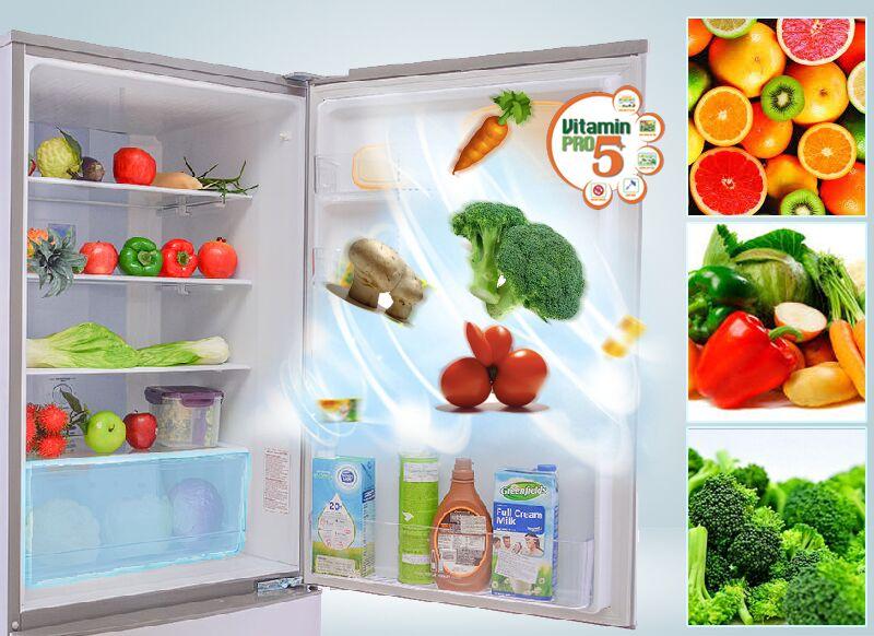 Tủ lạnh Sanyo SR-Q345RB có Vitamin Pro5+ liên tục cung cấp vitamin cho tủ lạnh