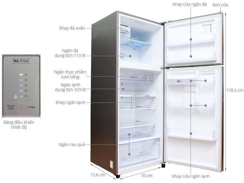 Thông số kỹ thuật Tủ lạnh Samsung 442 lít RT43H5231SL/SV