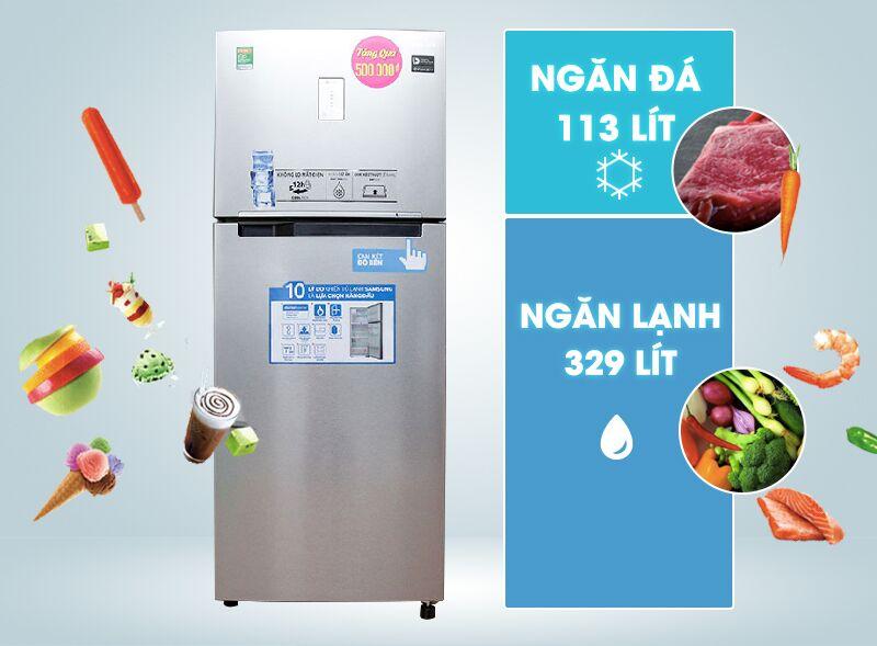 Tủ lạnh Samsung RT43H5231SL/SV được thiết kế hiện đại, gọn gàng với dung tích cực lớn