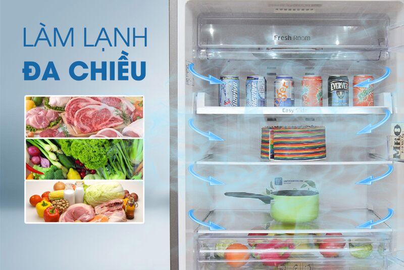 Công nghệ làm lạnh đa chiều đem đến cho tủ lạnh Samsung RT43H5231SL/SV khả năng bảo quản thực phẩm được tốt hơn