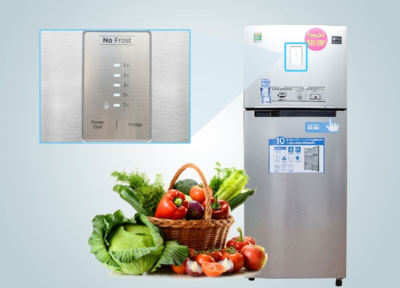 Bảng điều khiển ở bên ngoài của tủ lạnh Samsung RT43H5231SL/SV là một tiện ích đặc biệt