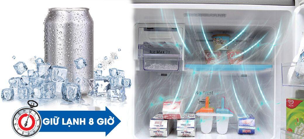 Với Mr. Coolpack của tủ lạnh Samsung RT43H5231SL/SV, các bạn có thể lưu giữ nhiệt độ lạnh dưới 0 độ C