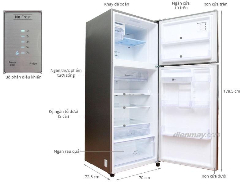 Thông số kỹ thuật Tủ lạnh Samsung RT43H5631SL/SV 442 lít