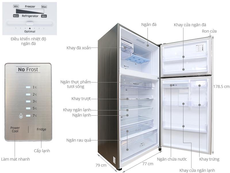 Thông số kỹ thuật Tủ lạnh Samsung 507 lít RT50H6631SL/SV