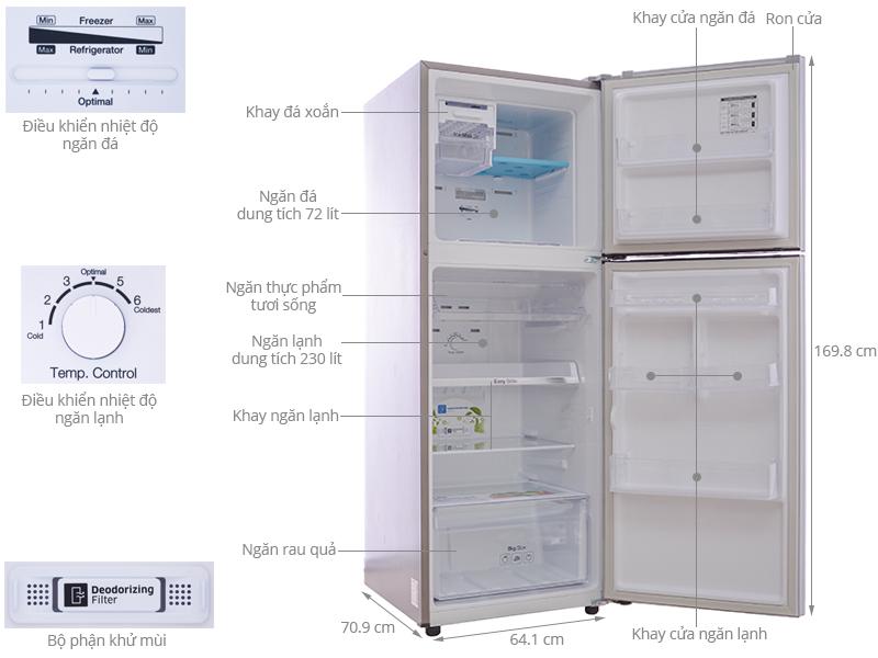 Thông số kỹ thuật Tủ lạnh Samsung 302 lít RT29FARBDSA/SV