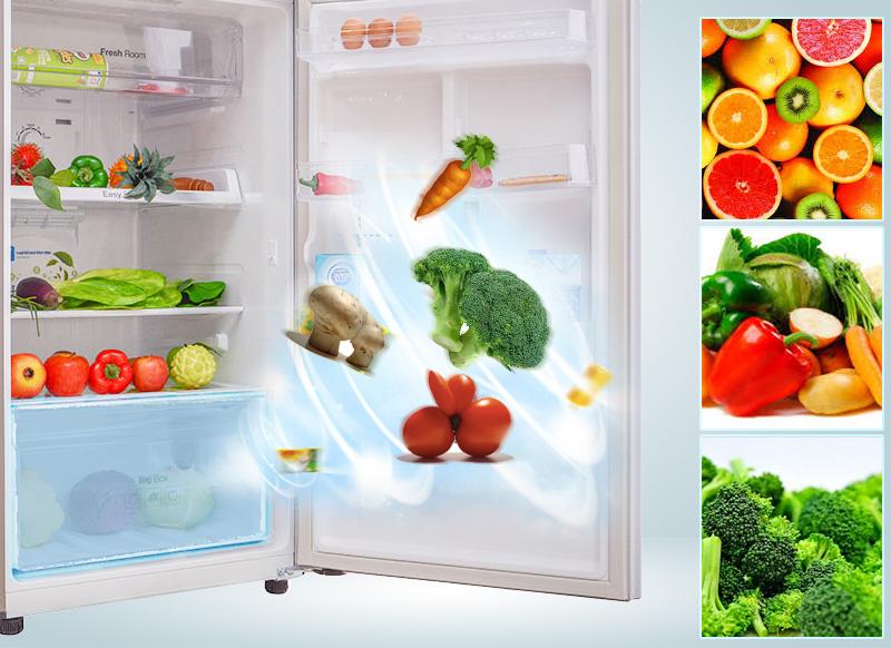 Ngăn rau củ duy trì độ ẩm