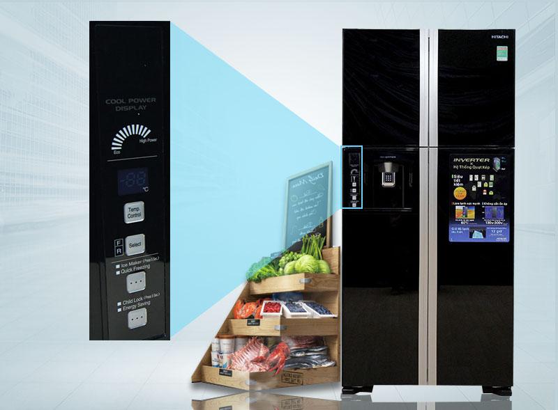 Điều khiển dễ dàng với bảng điều khiển bên ngoài tủ lạnh