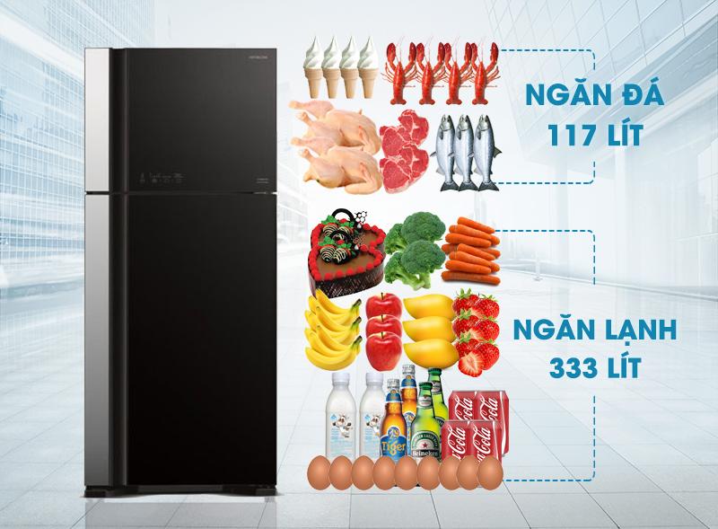 Tủ lạnh Hitachi R-VG540PGV3 thuộc dòng Big2 của Hitachi