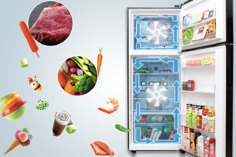 Tủ lạnh Hitachi R-VG540PGV3 chứa hệ thống làm lạnh kép đầy hiệu quả