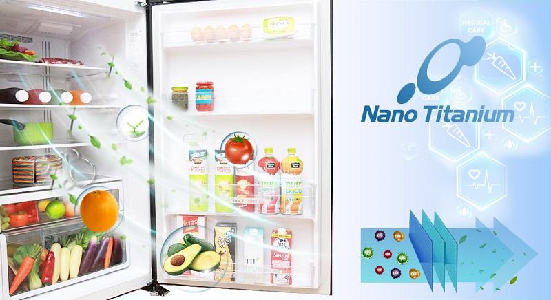 Tủ lạnh Hitachi R-VG540PGV3 có màng lọc Nano Titanium