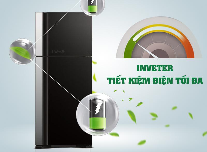 Tủ lạnh Hitachi R-VG540PGV3 có công nghệ Inverter độc đáo