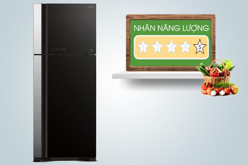 Chiếc tủ lạnh này có đến 5 sao trong Nhãn năng lượng do Bộ Công thương cấp