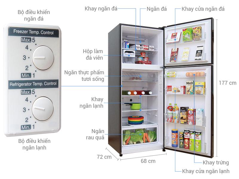 Thông số kỹ thuật Tủ lạnh Hitachi 395 lít R-VG470PGV3
