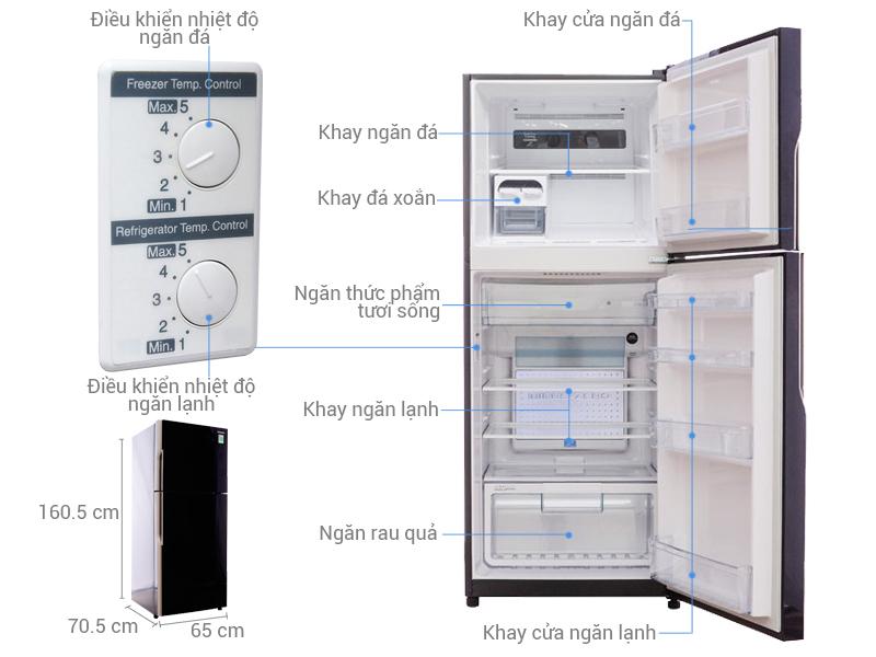 Thông số kỹ thuật Tủ lạnh Hitachi 335 lít R-VG400PGV3 GBK
