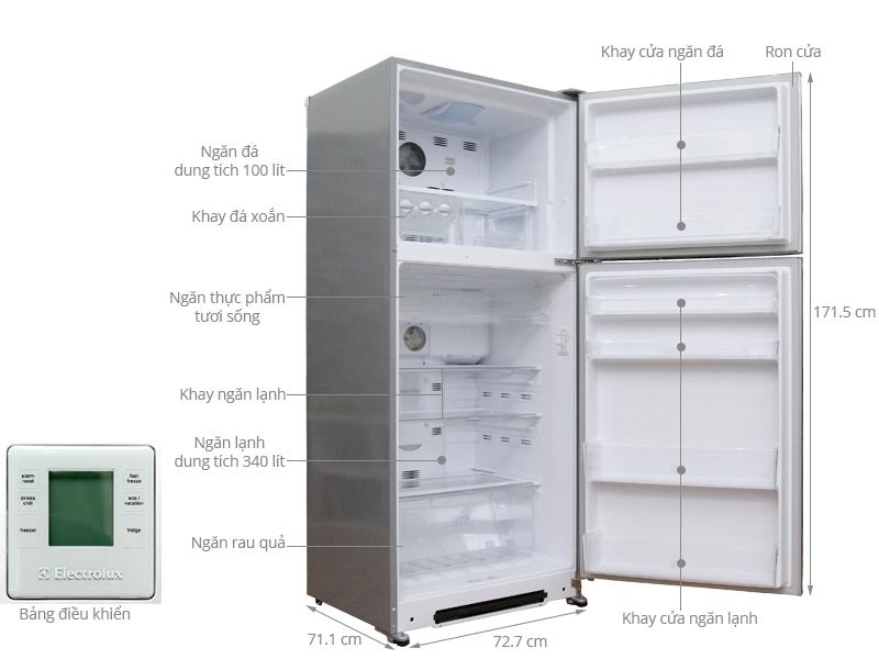 Thông số kỹ thuật Tủ lạnh Electrolux 440 lít ETE4407SD